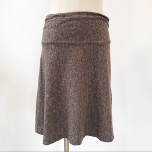 Toad&Co. Brown Skirt Stretch Small